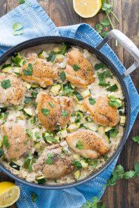 Chicken and Zucchini Indonesian Coconut Rice | Garnish & Glaze