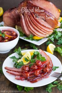 Glazed Ham with Cherry Sauce | Garnish & Glaze