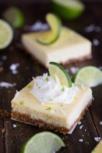 Coconut Key Lime Cheesecake Bars   Garnish & Glaze