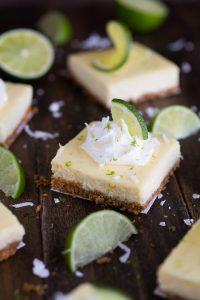 Coconut Key Lime Cheesecake Bars | Garnish & Glaze