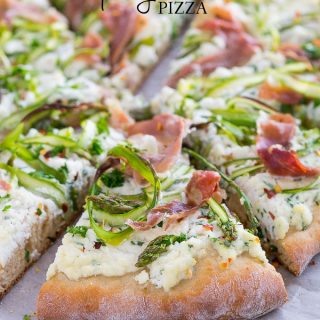 Asparagus Ribbon Pizza