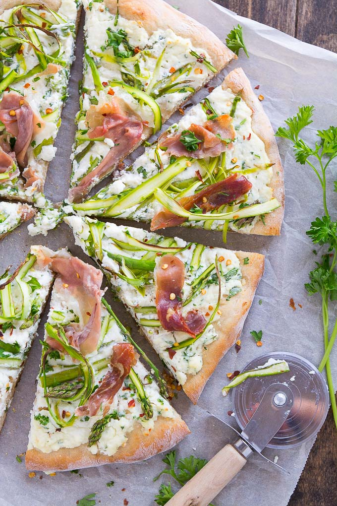 Asparagus Ribbon Pizza | Garnish & Glaze