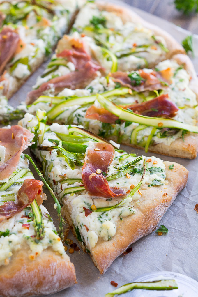 Asparagus Ribbon Pizza | Garnish & Glaze