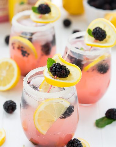 Sparkling Blackberry Lemonade   Garnish & Glaze
