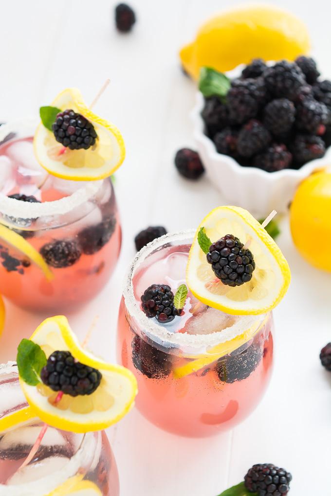 Sparkling Blackberry Lemonade | Garnish & Glaze