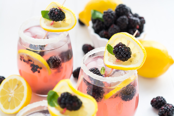 Sparkling Blackberry Lemonade | Garnish & Glaze
