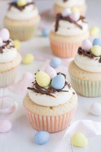 White Chocolate Easter Egg Cupcakes | Garnish & Glaze