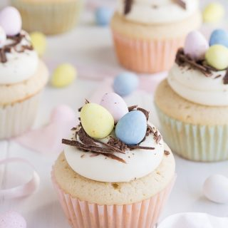 White Chocolate Easter Egg Cupcakes | Garnish & Glaze