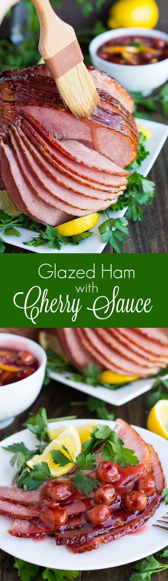 Enjoy your Easter Dinner with this sweet and flavorful Glazed Ham with Cherry Sauce.