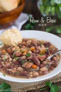 Ham & Bean Soup   Garnish & Glaze