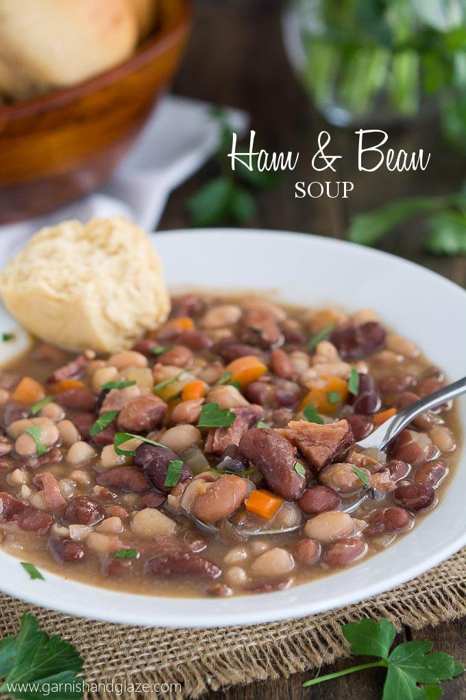 Ham & Bean Soup | Garnish & Glaze
