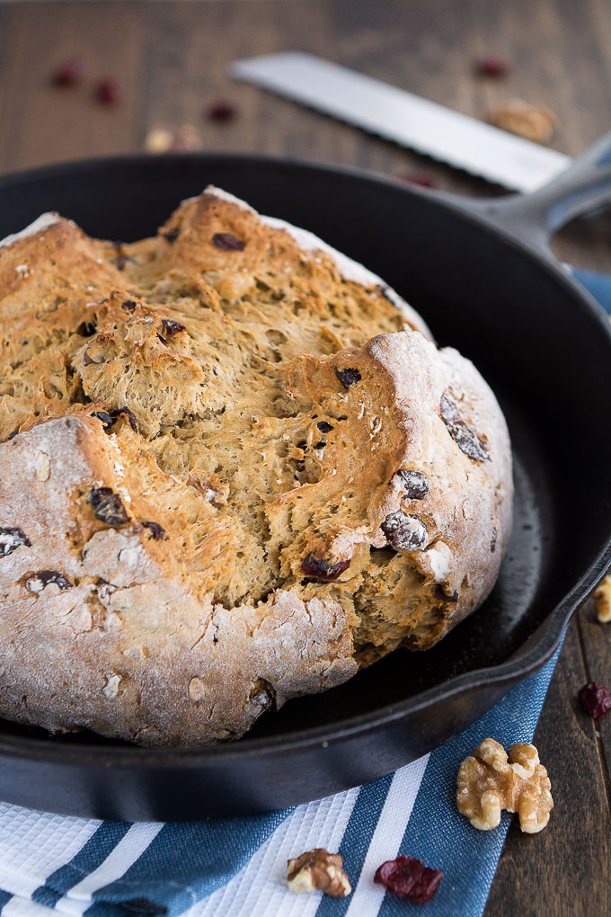 Cranberry Walnut Irish Soda Bread | Garnish & Glaze