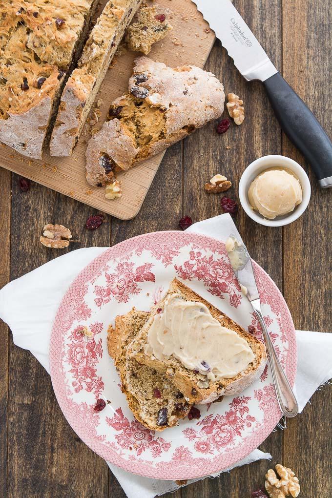 Cranberry Walnut Irish Soda Bread   Garnish & Glaze