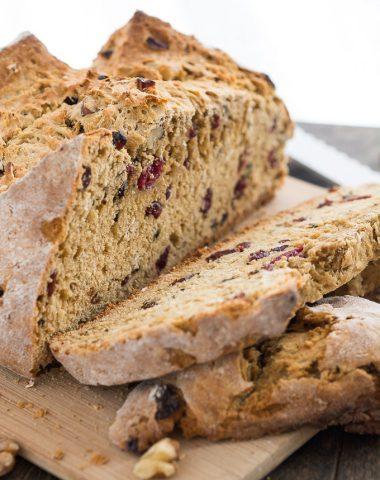 Cranberry Walnut Irish Soda Bread | Garnish & Glaze