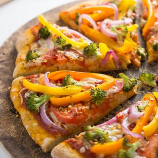 Veggie Rainbow Pizza