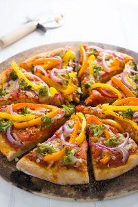Veggie Rainbow Pizza | Garnish & Glaze