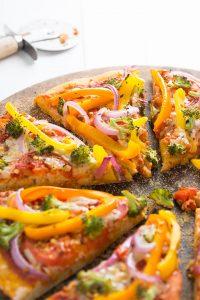 Veggie Rainbow Pizza   Garnish & Glaze