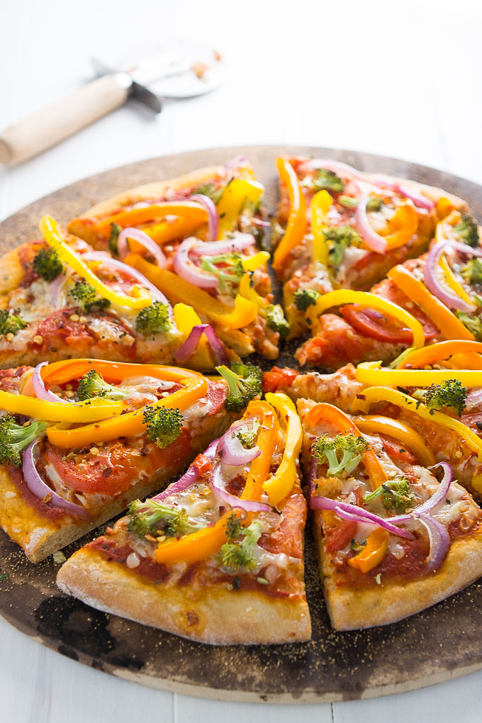 Veggie Rainbow Pizza | Garnish & Glaze
