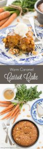 If you thought carrot cake with cream cheese frosting was good, wait until you try this delicious Warm Caramel Carrot Cake à la mode! It's mind-blowing!