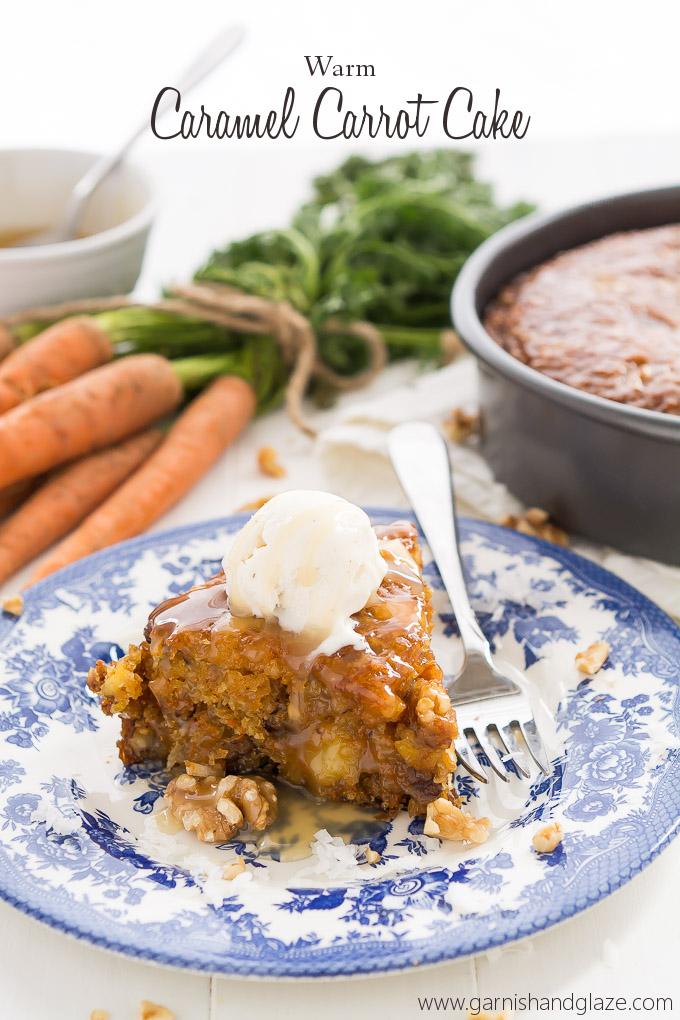 Warm Caramel Carrot Cake | Garnish & Glaze