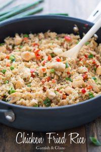Chicken Fried Rice   Garnish & Glaze