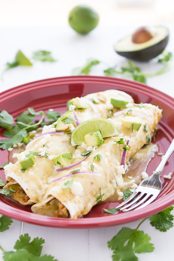Honey Lime Chicken Enchiladas | Garnish & Glaze
