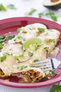 Honey Lime Chicken Enchiladas   Garnish & Glaze