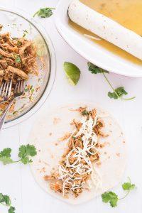Honey Lime Chicken Enchiladas | Garnish & Glaze