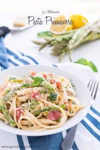 30 minute Pasta Primavera | Garnish & Glaze