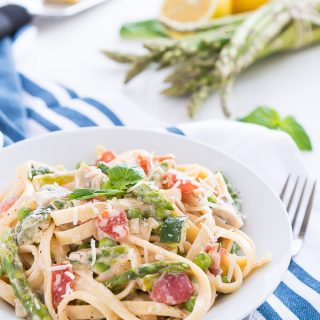30 minute Pasta Primavera | Garnish & Glaze