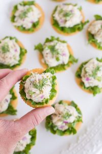 Tuna Salad on Crackers | Garnish & Glaze