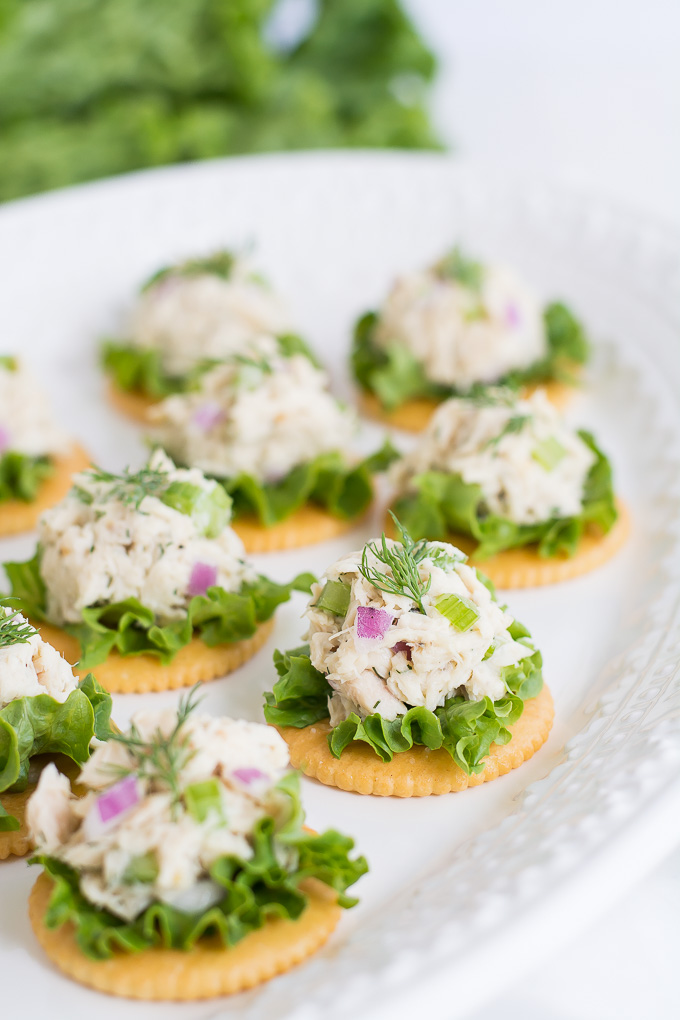 Tuna Salad on Crackers | Garnish & Glaze