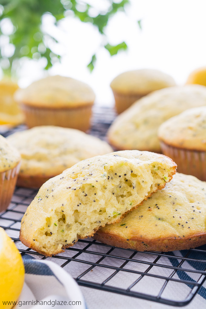Enjoy your zucchini in these fluffy Lemon Poppy Seed Zucchini Muffies.