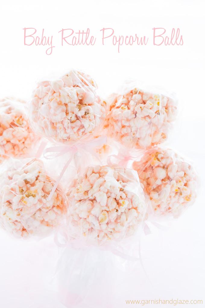 Baby Rattle Popcorn Balls