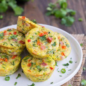 Mini frittatas made with quinoa and zucchini