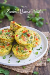 Mini frittatas made with quinoa and zucchini
