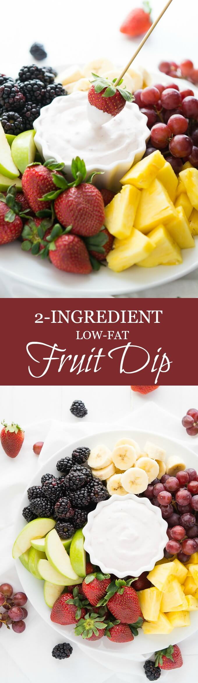 Keep your snack healthy with this 2-Ingredient Low-Fat Fruit Dip.