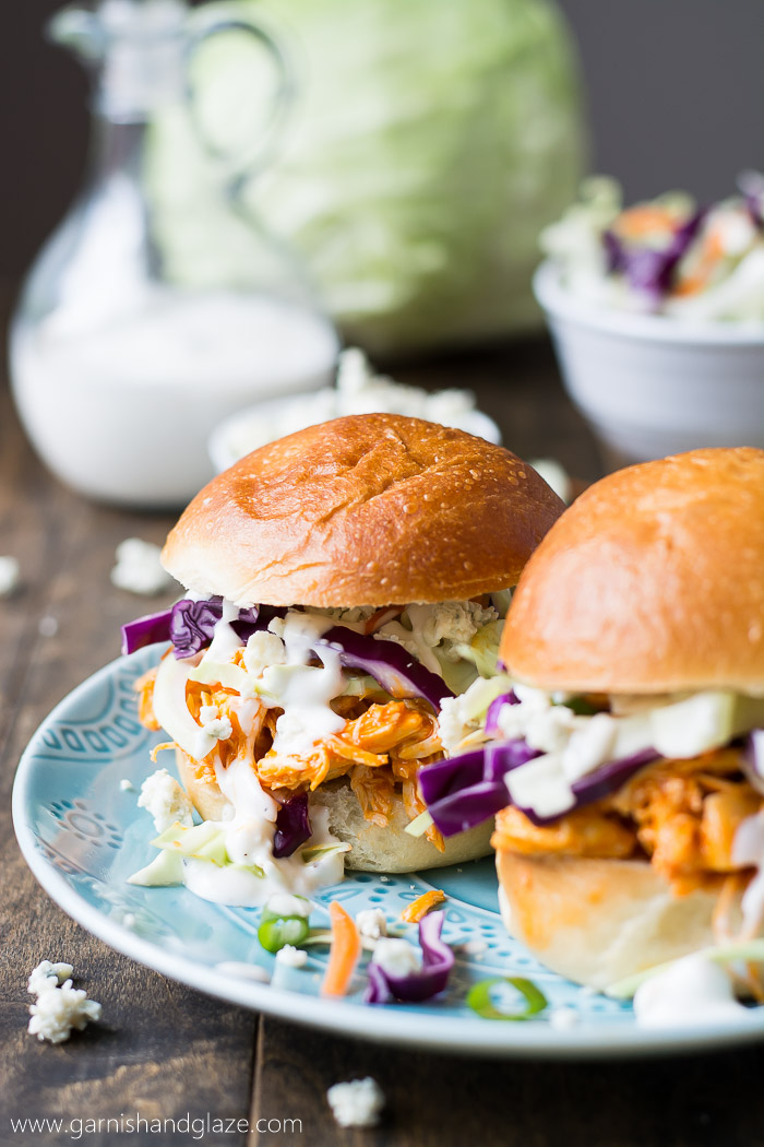 Buffalo Chicken Sliders | Garnish & Glaze
