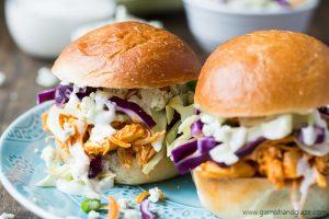 Buffalo Chicken Sliders | Garnish & Glaze