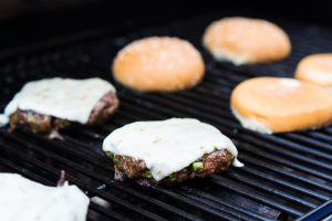 Southwest Pepper Jack Burgers are packed with flavor and topped with fresh condiments.