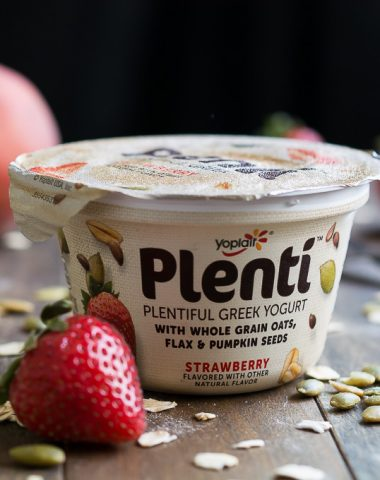 Yoplait's Plentiful Greek Yogurt is the perfect delicious and filling snack.