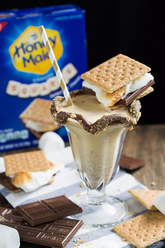 Bring two summer favorites into one-- S'mores Shakes.