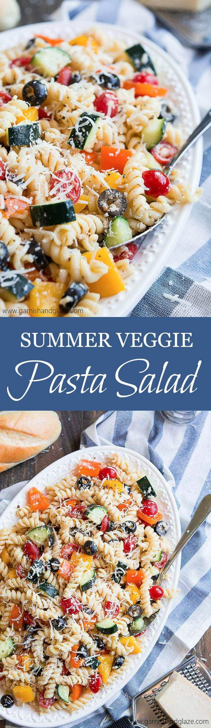 Make this Summer Veggie Pasta Salad for a quick and simple dinner or bring as a side to your next barbecue.