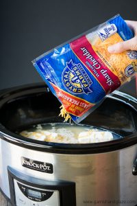 This creamy Slow Cooker Cheesy Ranch Chicken Pasta is an easy meal the whole family will love!