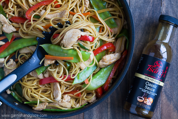 Take 20 minutes to toss this Chicken Lo Mein together and enjoy it with the family.