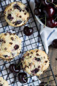 Enjoy summer's fresh cherries in these scrumptious Cherry Chocolate Chip Muffins.