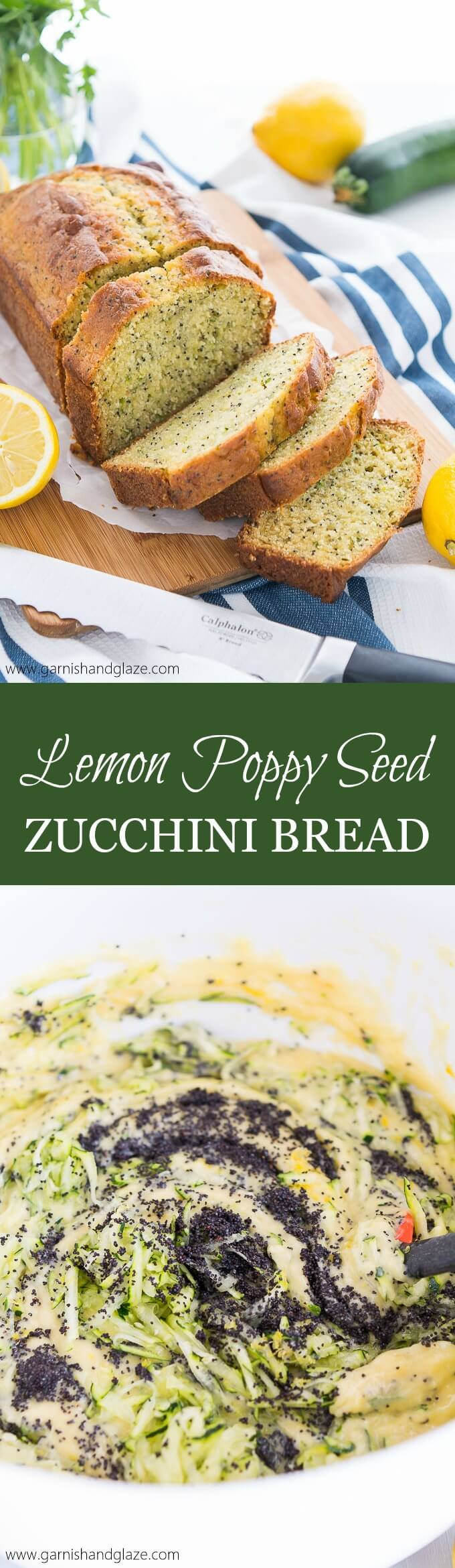 Enjoy your zucchini in this easy-to-make, sweet, tender Lemon Poppy Seed Zucchini Bread.