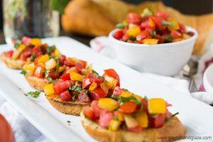 Enjoy summer's sweet tomatoes in this Tomato Basil Bruschetta.