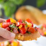 Enjoy summer's sweet tomatoes in this Tomato Basil Bruschetta.