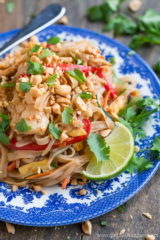 Chicken pad thai garnish glaze enjoy thai food at home with this quick and easy chicken pad thai forumfinder Images